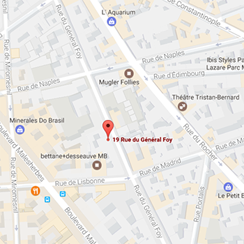 Map of FBN Bank (UK) Ltd, Paris Branch